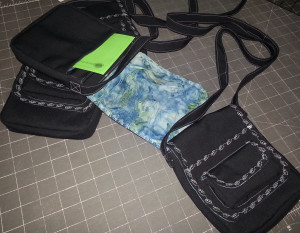 Packing up my purses for the Sew Powerful Purse Project!
