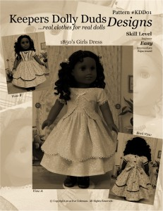The first Keepers Dolly Duds Design pattern, published just 3 years ago!  Click Here to purchase.