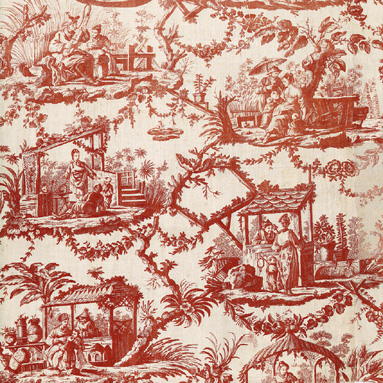 Judging a cloth by its color what fabric tells us part 2 thimbles and acorns - Rideaux toile de jouy ...