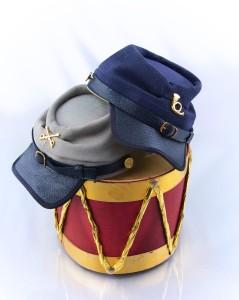Civil War Kepi Hat pattern available soon!  Watch for them at pixiefaire.com